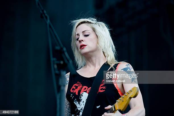 Brody Dalle performs on stage on day 3 of Sasquatch Music Festival at the Gorge Amphitheater on May 25 2014 in George United States