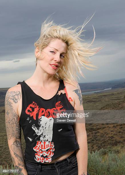 Brody Dalle poses for a portrait backstage on day 3 of Sasquatch Music Festival at the Gorge Amphitheater on May 25 2014 in George United States