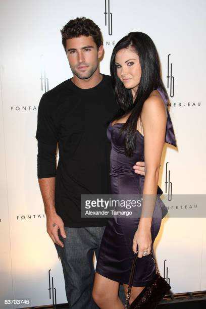 Brody Jenner and Jayde Nicole arrive for the grand opening of Fontainebleau Miami Beach on November 14, 2008 in Miami Beach, Florida.