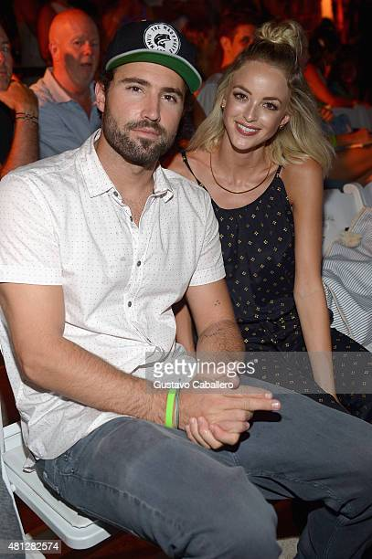 Brody Jenner and Kaitlynn Carter attend the Frankie's Bikinis 2016 Collection during SWIMMIAMI at W South Beach WET on July 18 2015 in Miami Beach...
