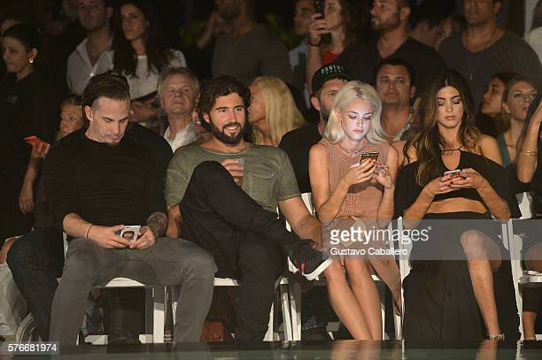 Brody Jenner and Kaitlynn Carter attend the INDAH Clothing Presents Casa INDAH at SwimMiami Front Row at W South Beach on July 16 2016 in Miami Beach...