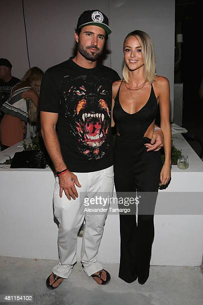 Brody Jenner and Kaitlynn Carter attend the Mikoh 2016 presentation during SWIMMIAMI at 1 Hotel South Beach Outdoor on July 17 2015 in Miami Beach...