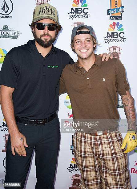 Brody Jenner and Ryan Sheckler pose for a photo at Ryan Sheckler's 7th Annual Celebrity Golf Tournament at Trump National Golf Club on September 29...