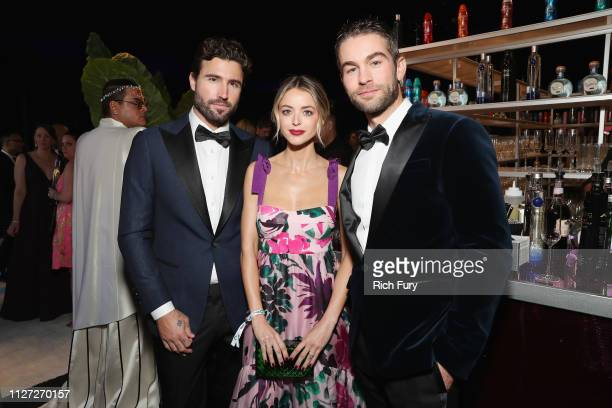 Brody Jenner Kaitlynn Carter Jenner and Chace Crawford attend the 27th annual Elton John AIDS Foundation Academy Awards Viewing Party sponsored by...
