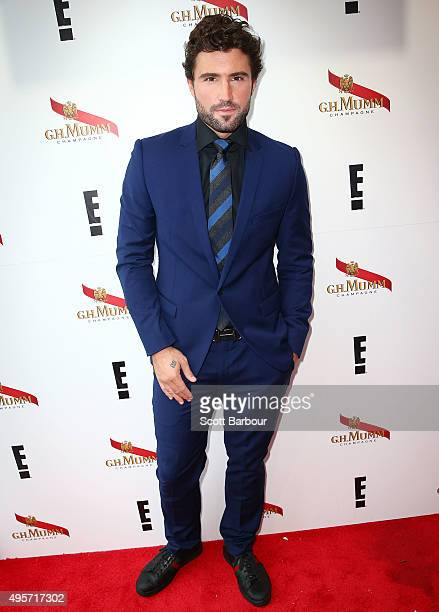 Brody Jenner poses at the Mumm Marquee on Oaks Day at Flemington Racecourse on November 5 2015 in Melbourne Australia