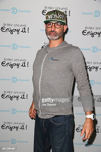 Brody Stevens arrives at the Brody Stevens Enjoy It Premiere Party at Smogshoppe on November 21 2013 in Los Angeles California