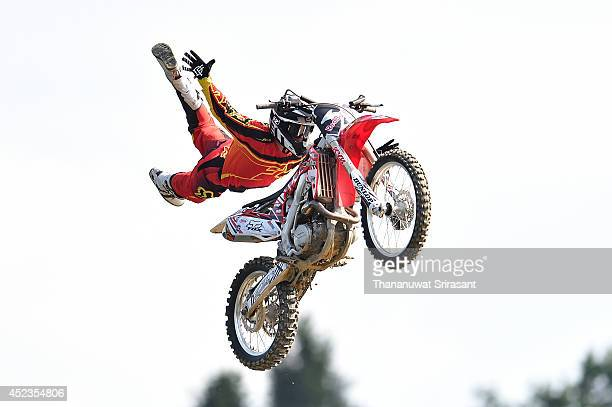 Brody Wilson of USA with Honda 450 competes during qualifying for the Red Bull XFighters World Tour on July 18 2014 in Munich Germany