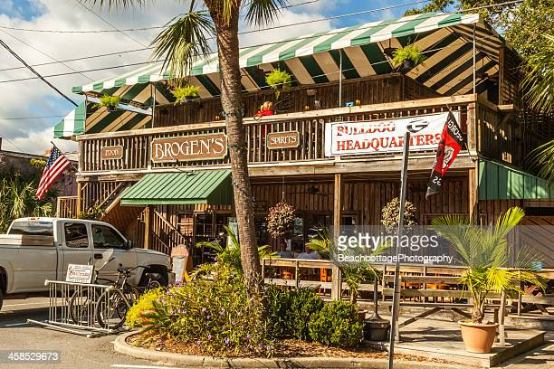 brogen's at the pier - saint simon's island stock pictures, royalty-free photos & images
