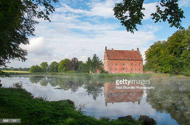 broholm manor house, funen, denmark - 17th century style stock photos and pictures