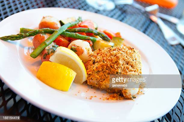 Broiled breaded New England Scrod