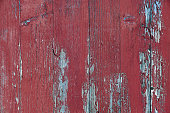 broken ailing wooden wall with old