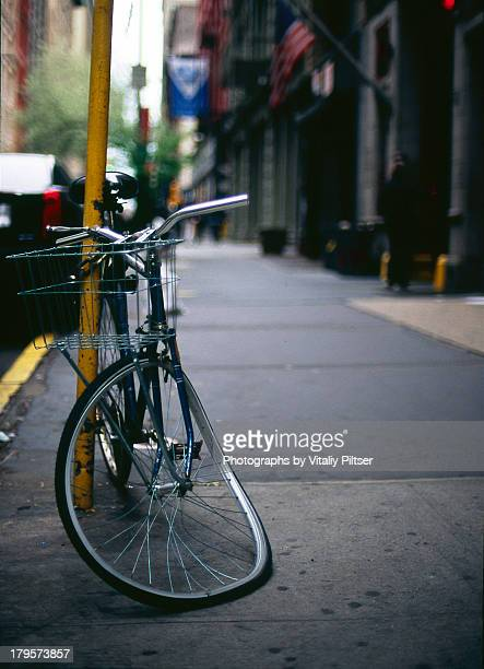 Broken Bicycle On The Street