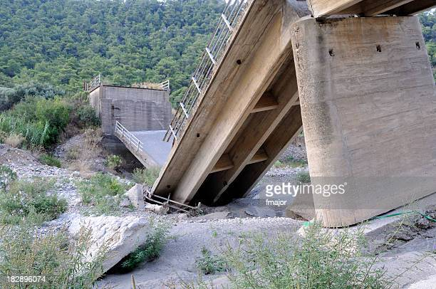 broken bridge - collapsing stock pictures, royalty-free photos & images