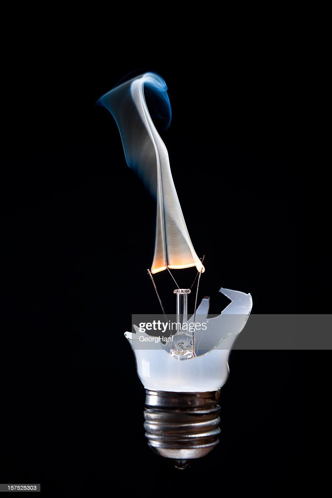 Broken bulb : Stock Photo