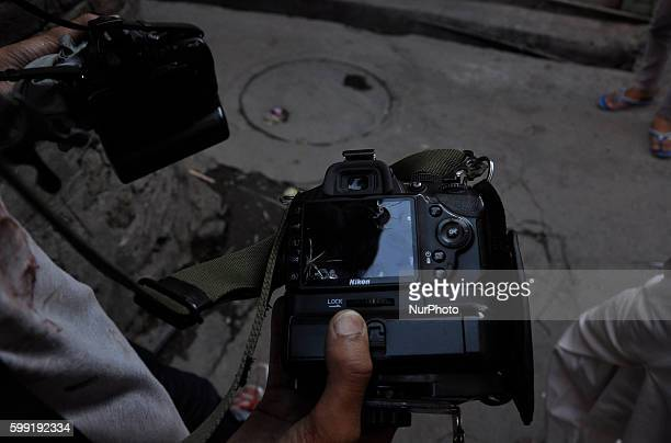 Broken Camera Of a photojournalist after he received Pellets fired by indian policeman in old city srinagar on september 042016Indian forces fired...