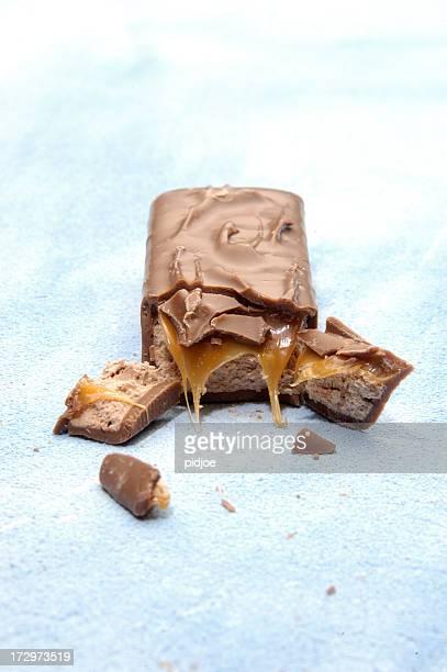 barre de chocolat cassé