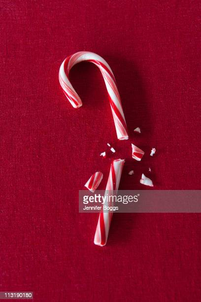 broken candy cane - candy cane stock pictures, royalty-free photos & images