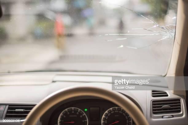 Broken Car Window