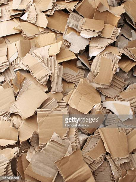 Broken cardboard background