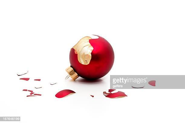 broken christmas bauble