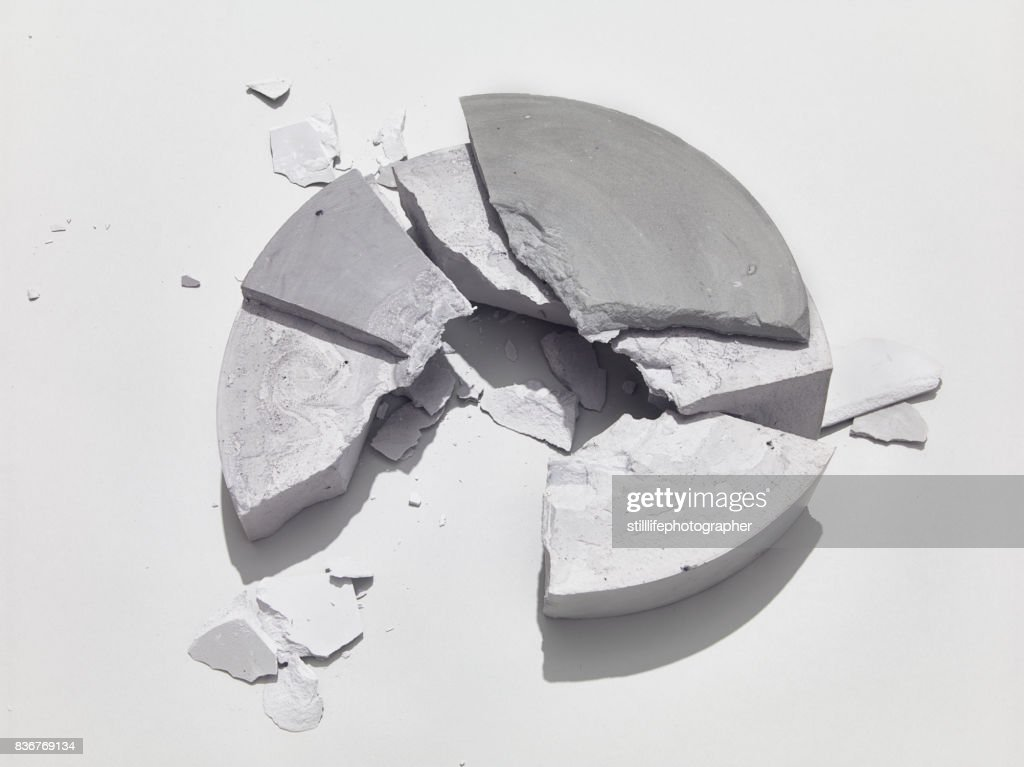 Broken Circle Concrete Block : Stock Photo