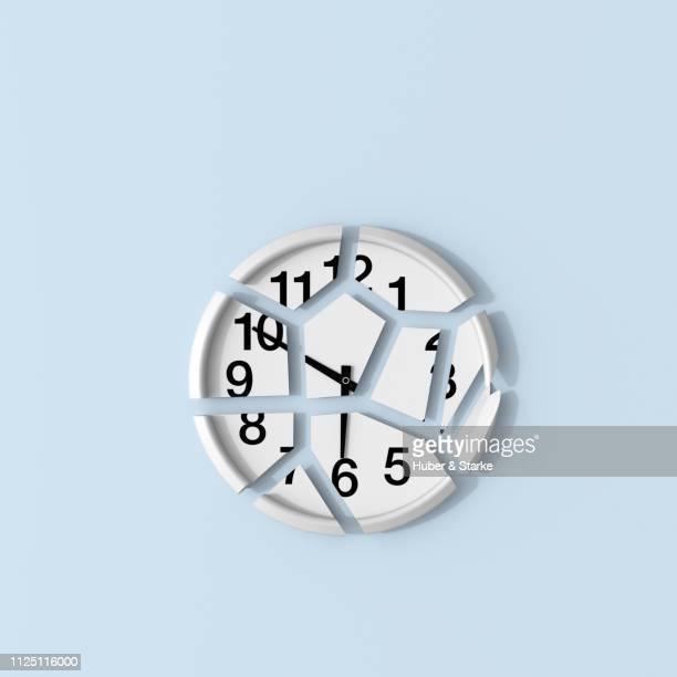 broken clock - wasting time stock pictures, royalty-free photos & images