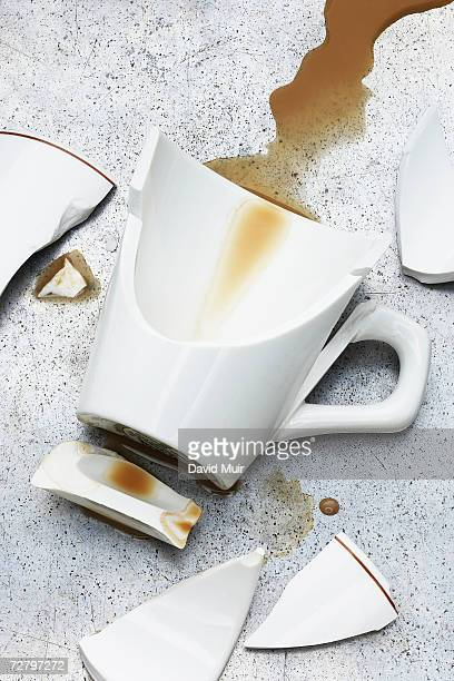 Broken coffee cups