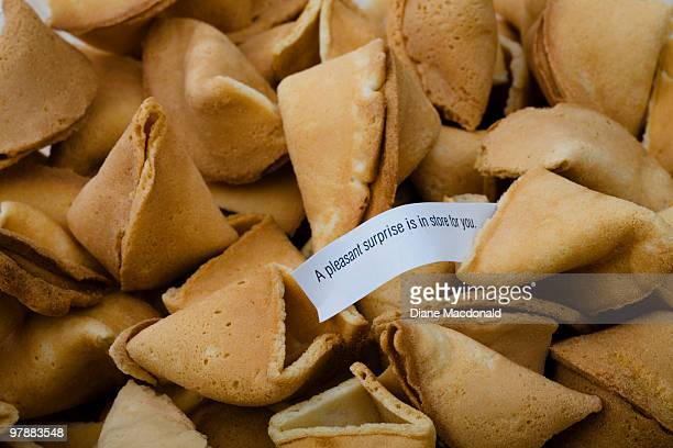 Broken fortune cookies and one fortune