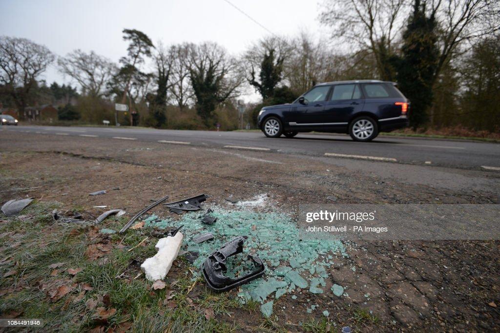 Duke of Edinburgh car crash : News Photo