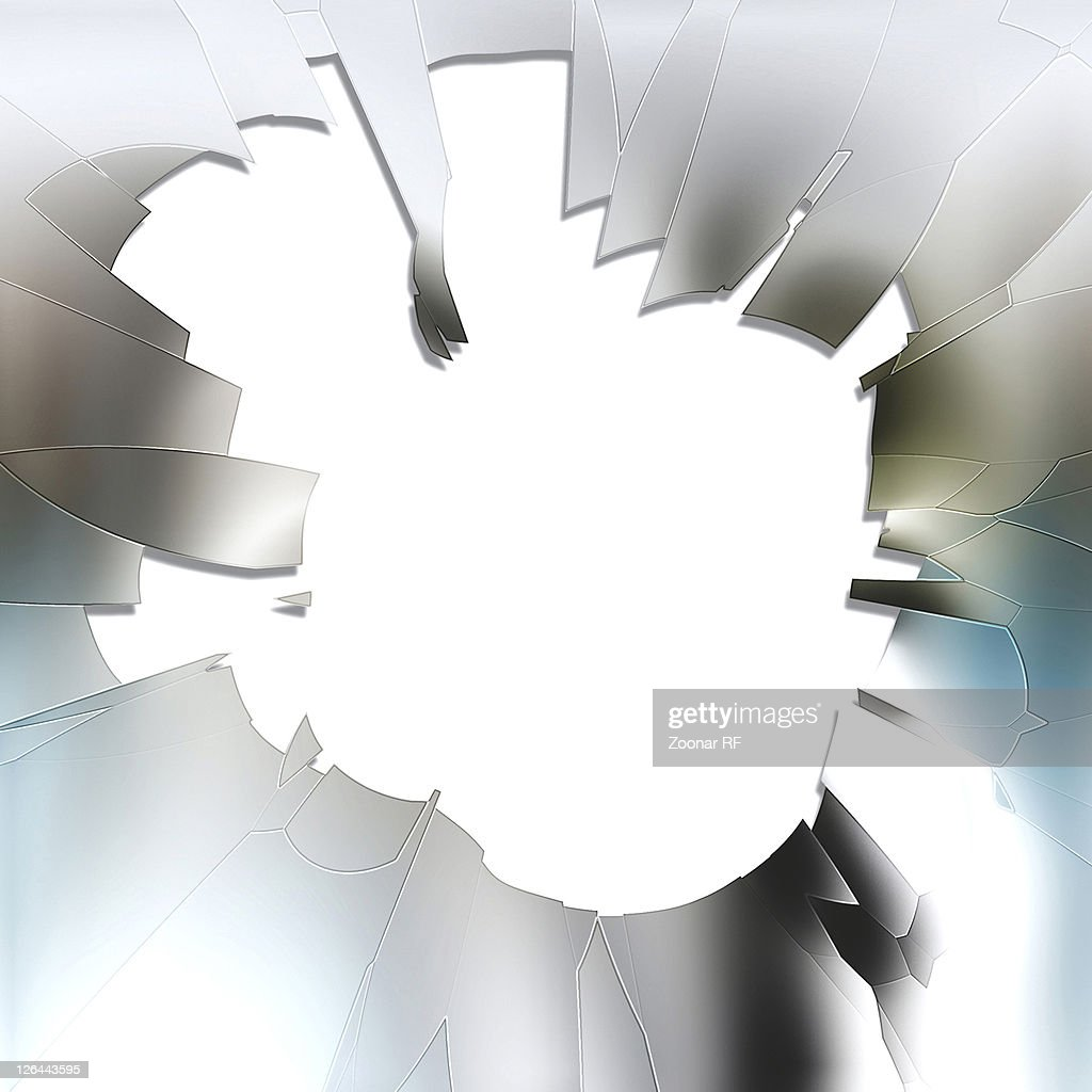 Broken Glass Frame Stock Photo | Getty Images