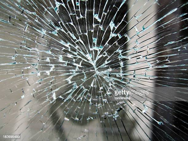 broken glass in enterance