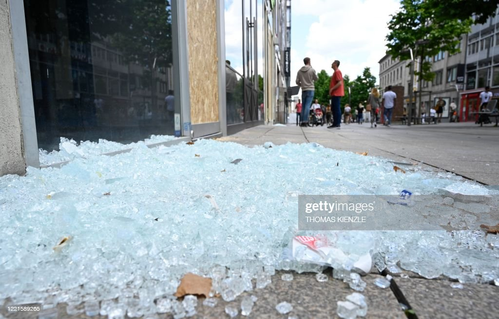 GERMANY-UNREST-POLICE : News Photo