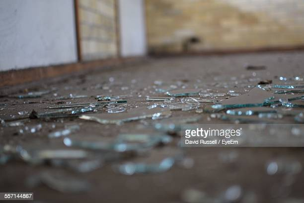Broken Glass On Floor