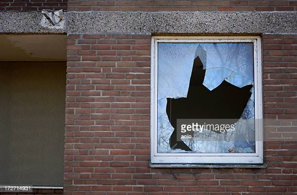 broken glass - window stock pictures, royalty-free photos & images