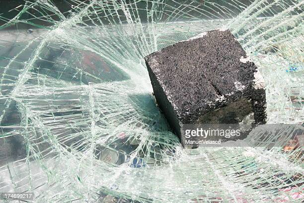 broken glass - vandalism stock pictures, royalty-free photos & images