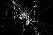 Broken glass texture. Abstract of cracked screen Smartphone from shock.