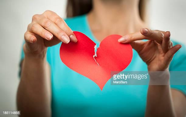 Broken heart and breaking up concept