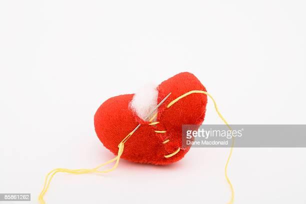 A broken heart being repaired