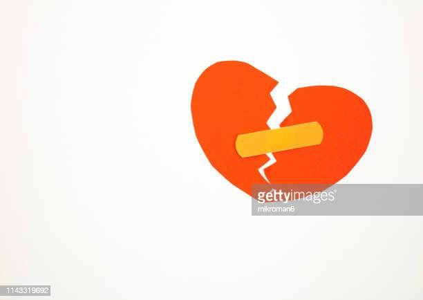 broken heart - broken heart stock pictures, royalty-free photos & images