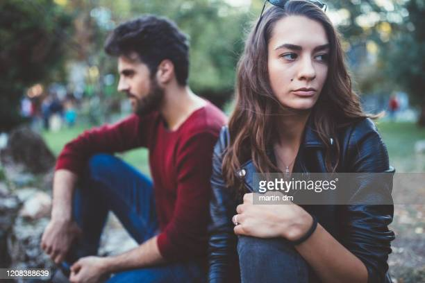 broken heart - couple breaking up stock pictures, royalty-free photos & images