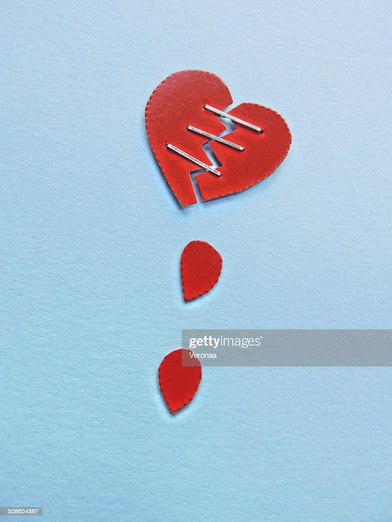 Coração partido : Foto de stock