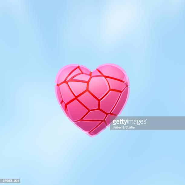 broken heart - kreativität stock pictures, royalty-free photos & images