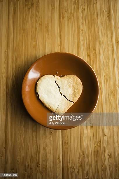 Broken heart shaped cookie