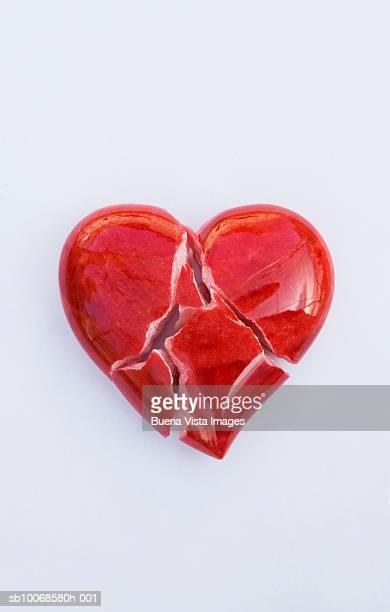 Broken heart-shaped object