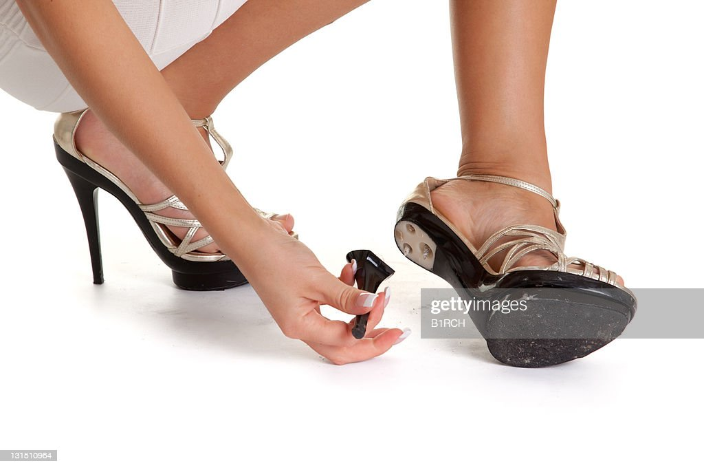 Broken heels : Stock Photo