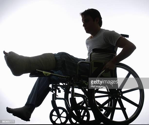 Broken leg in Wheelchair