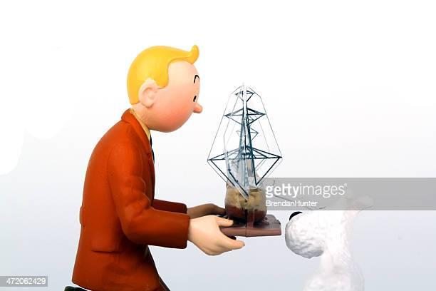 broken mast - tintin stock photos and pictures