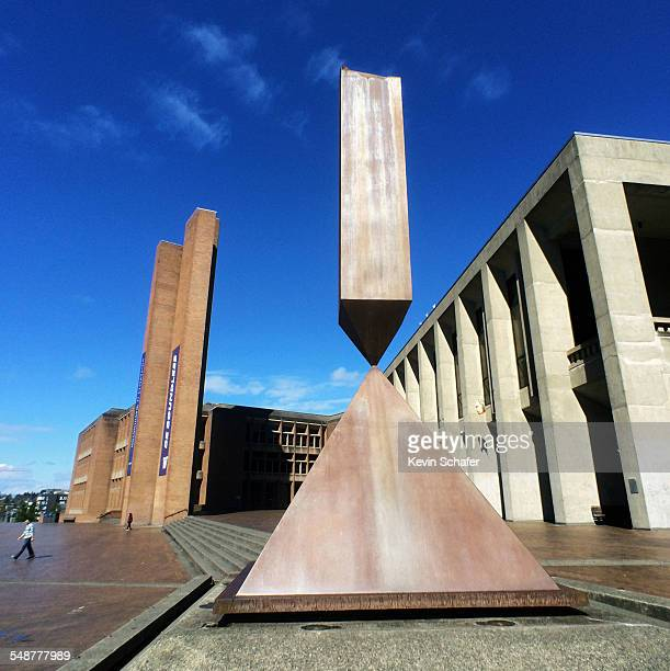 Broken Obelisk sculpture by Barnett Newman Red Square University of Washington Seattle April 12 2015