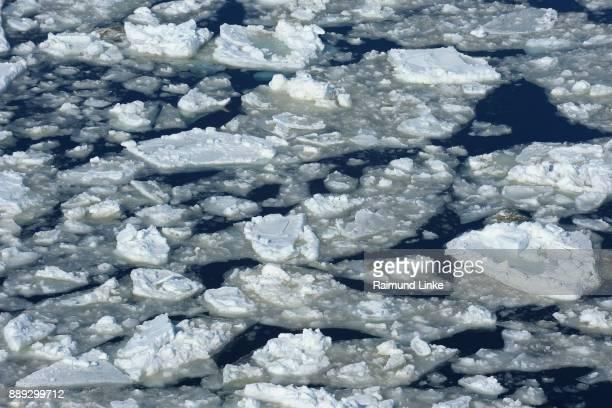 Broken pack ice and ice floes, Snow hill island, Weddel Sea, Antarctic Peninsula, Antarctica