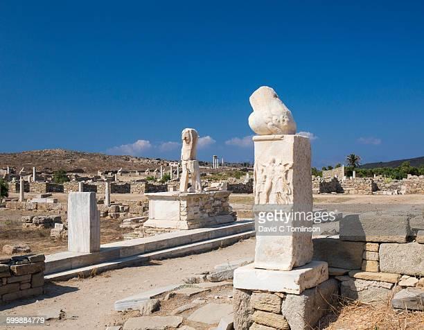 Broken phallus mounted on column, Delos